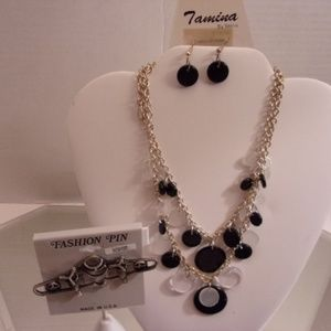 NWT AIRPLANE BROOCH TAMINA NECKLACE & EARRINGS RET